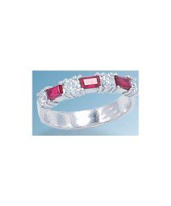 ruby & diamond wedding band