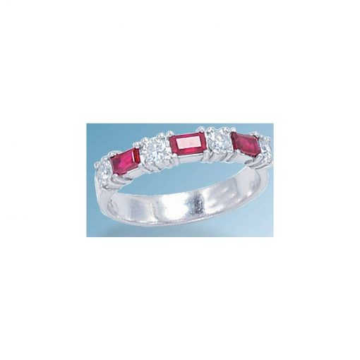 ruby & diamond wedding band