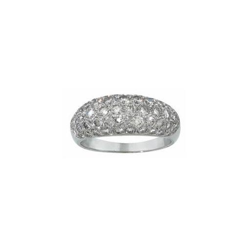 domed pave diamond band
