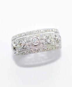 unique diamond band