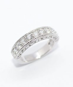 stunning diamond wedding band