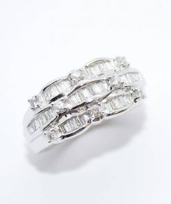 diamond band baguette & round