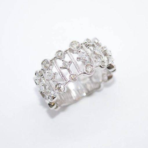 open design diamond band