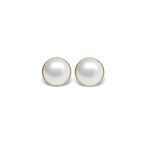 Mabe White Cultured Pearl Earrings