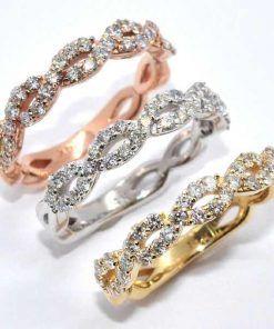 tri-color eternity bands