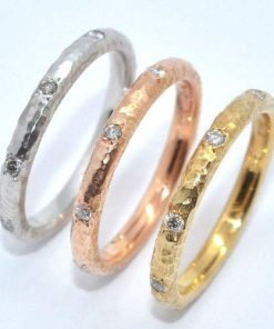tri color eternity bands