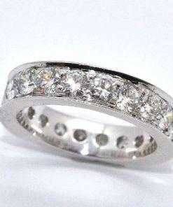 channel set diamond eternity band