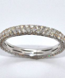 double row diamond eternity band