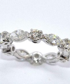 Round & Marquise Diamond Eternity Band