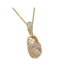 pave diamond baby shoe pendant