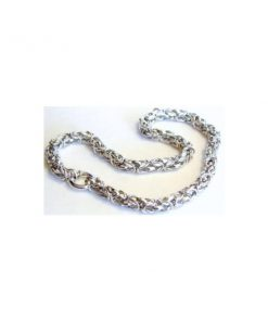 14k White Gold Byzantine Necklace
