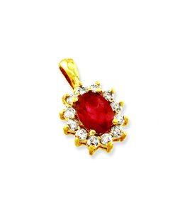 Yellow Gold Ruby Pendant