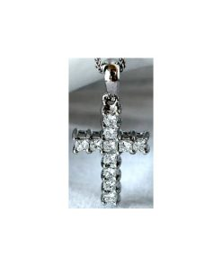 princess cut diamond cross