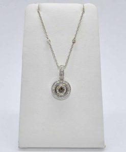 whie gold diamond pendant