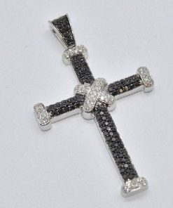 black & white diamond cross