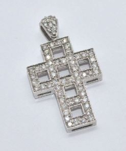 modern open design diamond cross