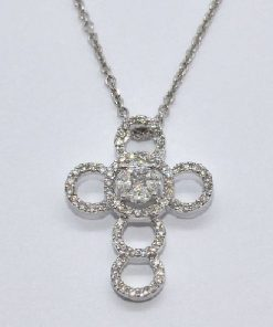 circle design diamond cross
