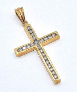 traditional diamond cross