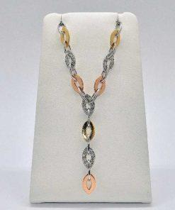 Tri Color Gold Diamond Pendant