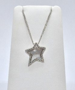Diamond & Mother of Pearl Star Pendant