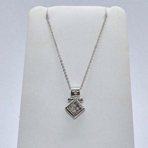 diamond pendant white gold
