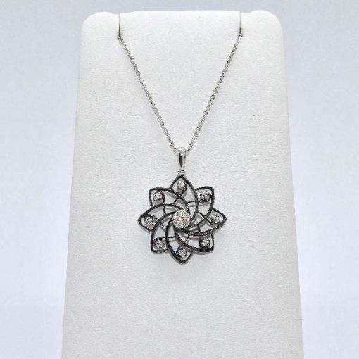 open design diamond pendant