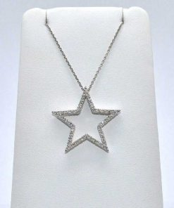 open diamond star pendant