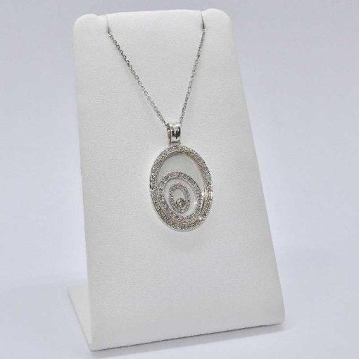 Diamond opend circles Pendant