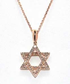Diamond Jewish Star Pendant