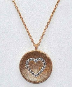 Matted Disc with Diamond Heart
