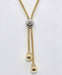 14k Two-Tone Gold Diamond Pendant