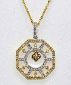 Diamond Octagon Shaped Pendant