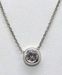 Diamond Bezel Set Pendant