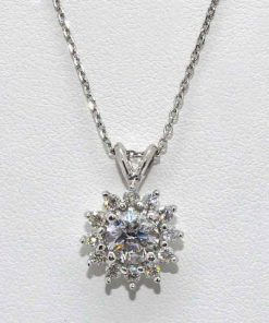 Round Cut Diamond Pendant