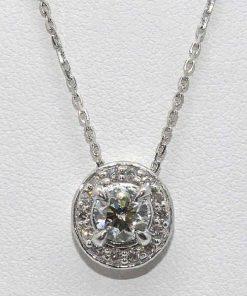 Round Diamond Pendan