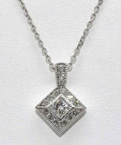 Princess Cut Diamond Pendant