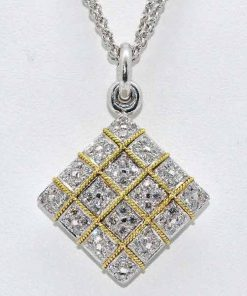 diamond rope design pendant