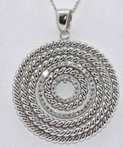 Diamond Rope Circle Design Pendant