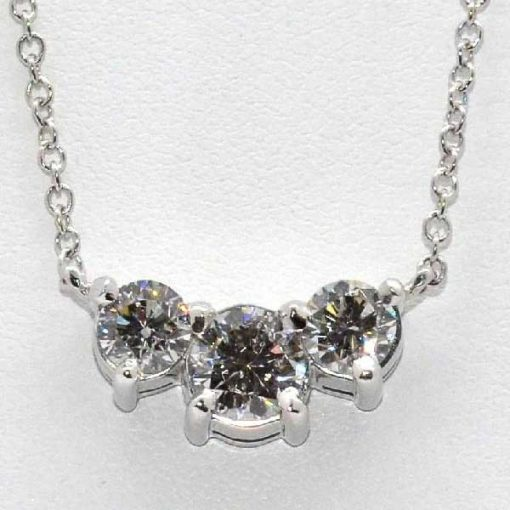 3 stone diamond pendant