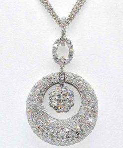 diamond pave cluster pendant