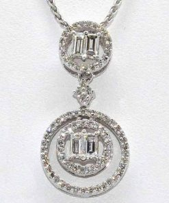 open diamond circle pendant