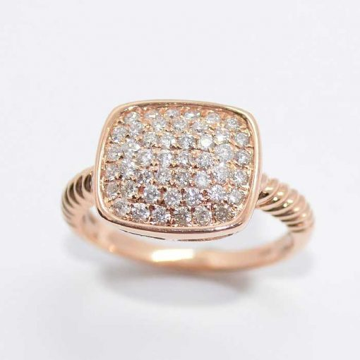 14k Pink Gold Diamond Ring