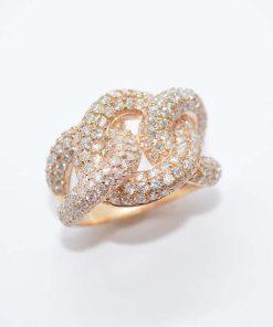 14k Pink Gold Diamond Ring