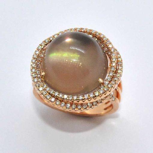 Pink Gold Diamond Fashion Ring