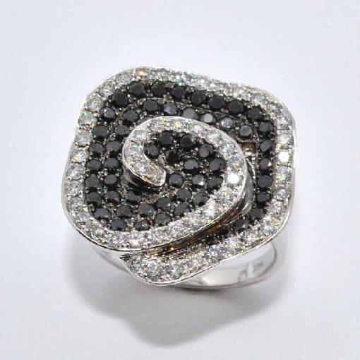 Black & White Diamond Fashion Ring