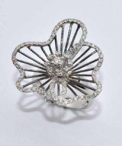 14k White Gold Diamond Fashion Ring
