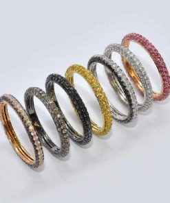 18k Gold Stackable Eternity Bands