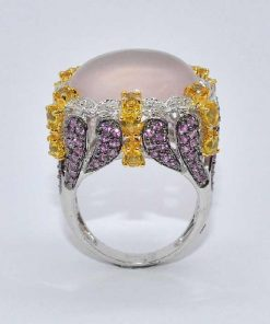 Diamond Fashion Ring with Citrine & Pink Sapphires