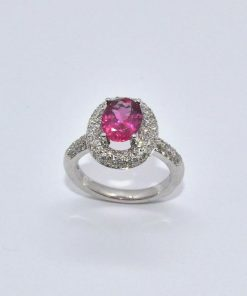 Pink Tourmaline & Diamond Fashion Ring