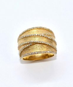 diamond fashion ring yellow gold